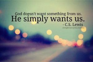 God wants us