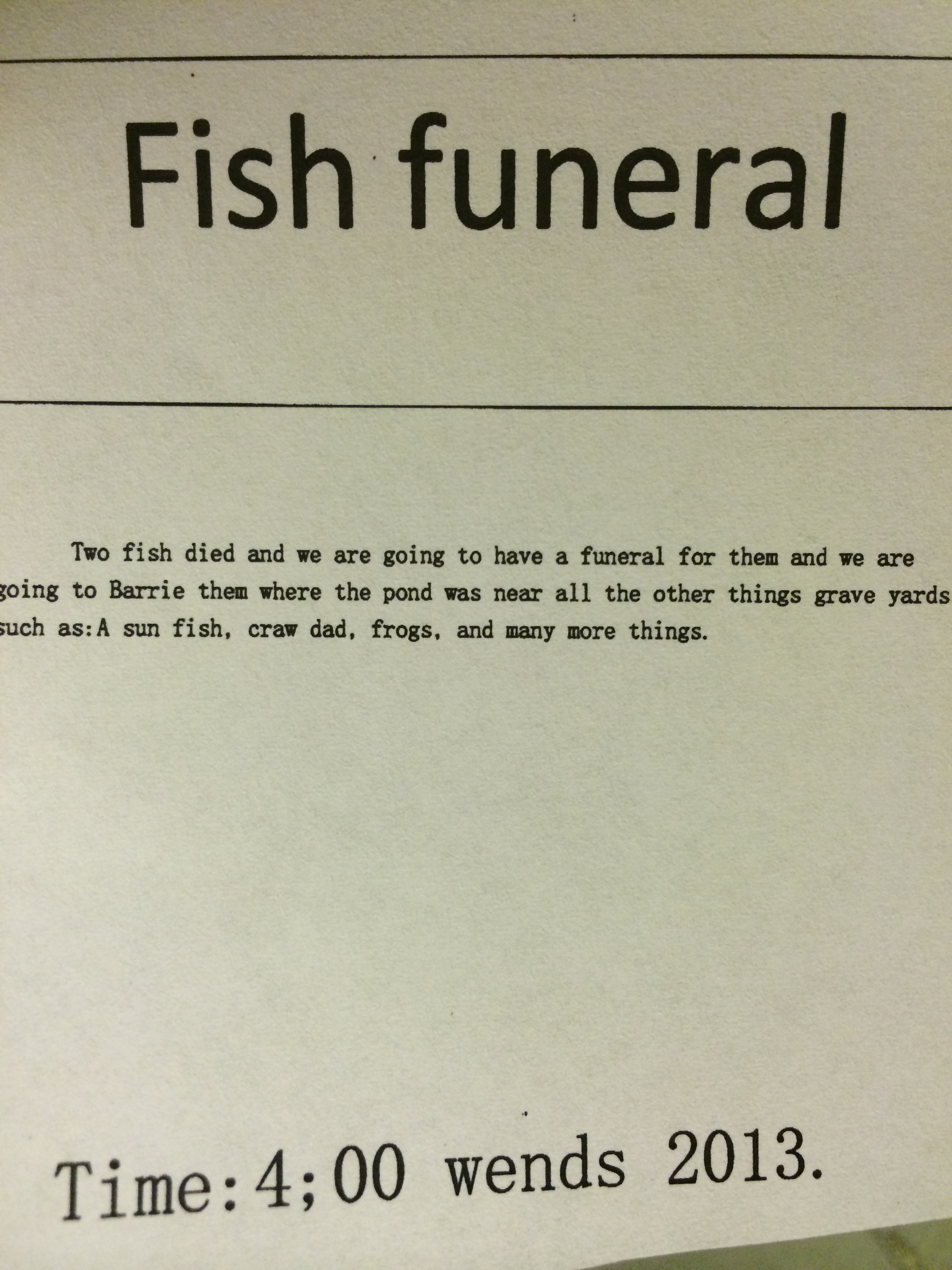 Real moms letters to lindsey for Gone fishing poem