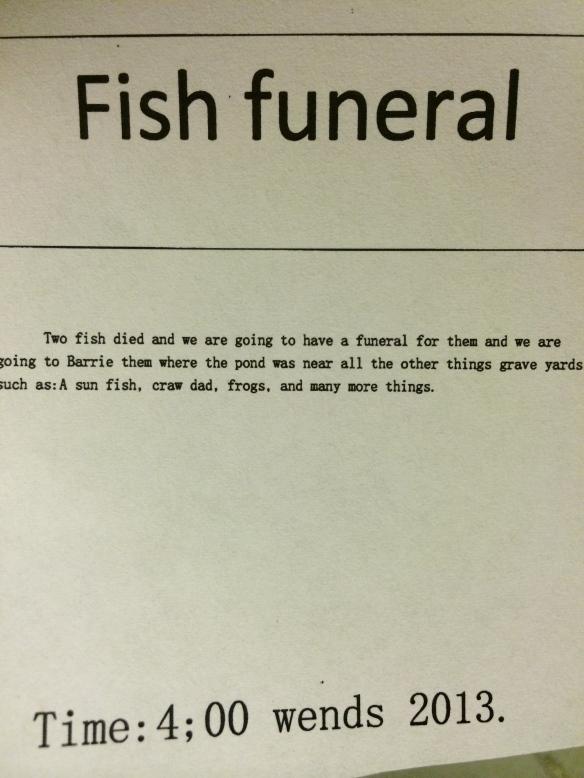funeral announcment