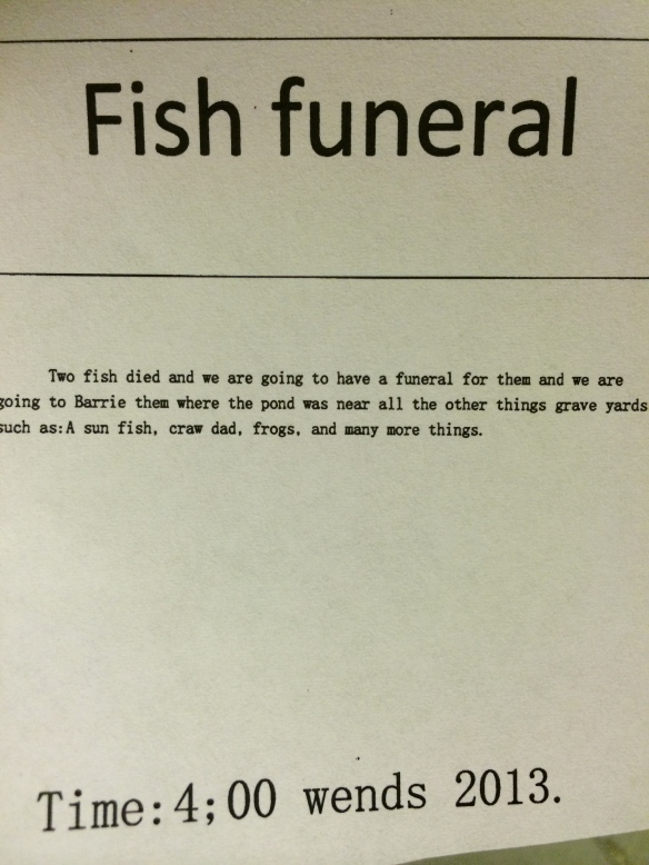 funeral announcment