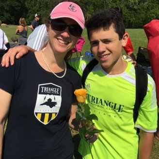 A Mother's Day rose from U-16 Nate, now a high school senior deciding his next steps